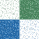 Seamless pattern with Ecotourism design elements Royalty Free Stock Photography