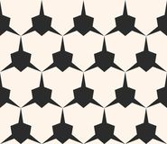 Seamless pattern with edgy triangular shapes. Geometric grid. Vector geometric seamless pattern with edgy triangular shapes. Simple abstract monochrome ornament Stock Photos