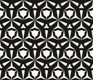 Seamless pattern with edgy triangular shapes, hexagonal grid. Vector geometric seamless pattern with edgy triangular shapes, hexagonal grid. Abstract monochrome Royalty Free Stock Photography