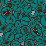 Seamless pattern. Education / Business / Work Tools / Technology. / Shopping / Sale vector illustration