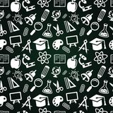 Seamless pattern with education icons Stock Photo