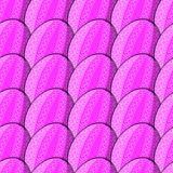 Seamless pattern of eggs with curl Stock Images