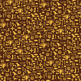 Seamless pattern with egypt hieroglyph Royalty Free Stock Image