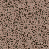 Seamless pattern with egypt hieroglyph Royalty Free Stock Photos
