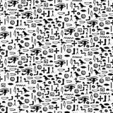 Seamless pattern with egypt hieroglyph. S.  illustration Stock Photography