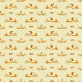 Seamless pattern with Egyptian symbols Stock Image