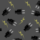 Seamless pattern electricity Stock Photo