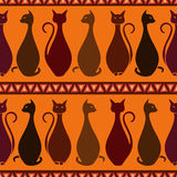 Seamless pattern of elegance cats Stock Photography