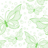 Seamless pattern with elegant butterflies Royalty Free Stock Photo