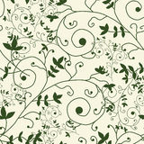 Seamless pattern. Elegant seamless pattern with decorative floral branches, design element Royalty Free Stock Image