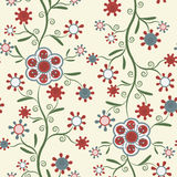 Seamless pattern with elegant flowers Royalty Free Stock Images