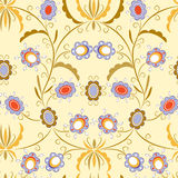 Seamless pattern with elegant flowers Royalty Free Stock Photo