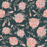 Seamless pattern with elegant flowers Stock Images