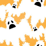Seamless pattern. Elegant seamless pattern with ghosts for your design Stock Image