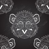 Seamless pattern. Elegant seamless pattern with hand drawn decorative monkeys, design elements. Can be used for invitations, greeting cards, scrapbooking, print Stock Photos
