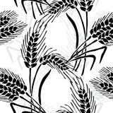 Seamless pattern. Elegant seamless pattern with hand drawn decorative wheat plants, design elements. Floral pattern for invitations, greeting cards, scrapbooking stock illustration