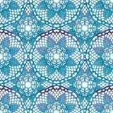 Seamless pattern. Elegant lacy watercolor doilies. Stock Photos