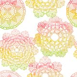 Seamless pattern. Elegant lacy watercolor doilies. Royalty Free Stock Image