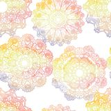 Seamless pattern. Elegant lacy watercolor doilies. Royalty Free Stock Photography