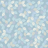 Seamless pattern with elegant leaves Royalty Free Stock Photos