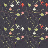 Seamless pattern with elegant white flowers and leaves isolated Royalty Free Stock Photo