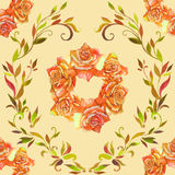 Seamless pattern element of colorful rose flowers Stock Photo