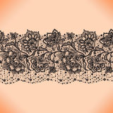 Seamless pattern with elements flowers. Royalty Free Stock Photography