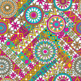 Seamless pattern with elements of the mandala. Boho ethnic bands. tribal style design. Royalty Free Stock Photo