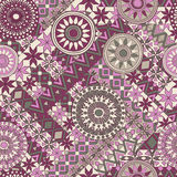 Seamless pattern with elements of the mandala. Boho ethnic bands. tribal style design. Stock Photography