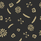Seamless pattern with elements of native american Stock Photography