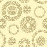 Seamless pattern with  elements of Russian ornaments Royalty Free Stock Image