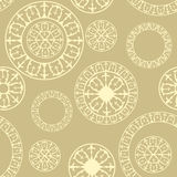 Seamless pattern with  elements of Russian ornaments Stock Image