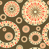 Seamless pattern with  elements of Russian ornaments Stock Images