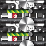 Seamless pattern of the elements of the user audio Stock Images