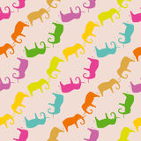 Seamless pattern with elephant Royalty Free Stock Photo