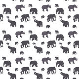 Seamless Pattern of Elephant. Royalty Free Stock Photo