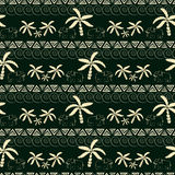 Seamless pattern with elephant and palm Royalty Free Stock Image