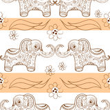 Seamless pattern with elephant. Vector illustration Royalty Free Stock Photography