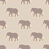 Seamless pattern with elephant. Vector illustration. EPS 8 Royalty Free Stock Images