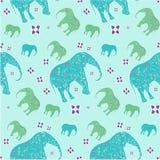 Seamless pattern elephant, vector, illustration Stock Image