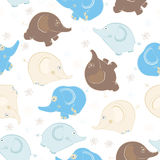 Seamless pattern with elephants Royalty Free Stock Image