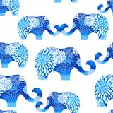 Seamless pattern with elephants Stock Image