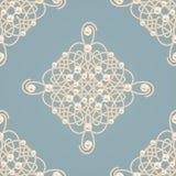 Seamless pattern with ellegant golden knot sign. Vector illustration. Stock Images