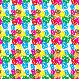 Seamless pattern  email,sms or envelope Stock Image