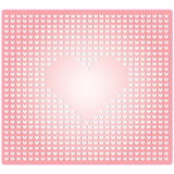 Seamless pattern in the embossed heart Stock Photos