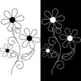Seamless pattern of embroidered lace Royalty Free Stock Photography