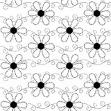 Seamless pattern of embroidered lace Stock Photos