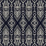 Seamless pattern with embroidery. Ethnic Ikat style design vector illustration