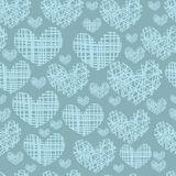 Seamless pattern with embroidery of hearts Royalty Free Stock Images