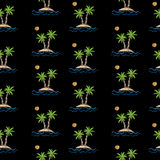 Seamless pattern with embroidery stitches imitation little palm stock illustration